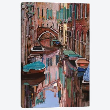 Venezia A Colori Canvas Print #GUB215} by Guido Borelli Canvas Wall Art