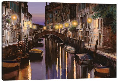 Venezia Al Crepuscolo Canvas Art Print