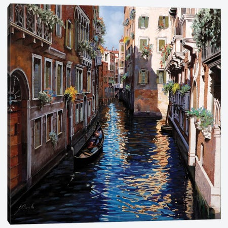 Venezia Blu Canvas Print #GUB217} by Guido Borelli Canvas Art
