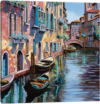 Venezia In Rosa Canvas Art Print