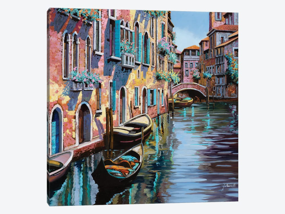 Venezia In Rosa by Guido Borelli 1-piece Canvas Art Print