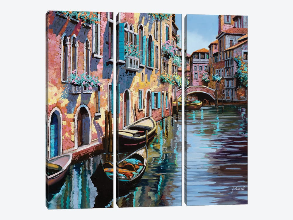 Venezia In Rosa by Guido Borelli 3-piece Art Print