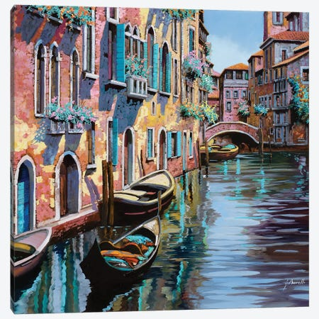 Venezia In Rosa Canvas Print #GUB218} by Guido Borelli Canvas Print