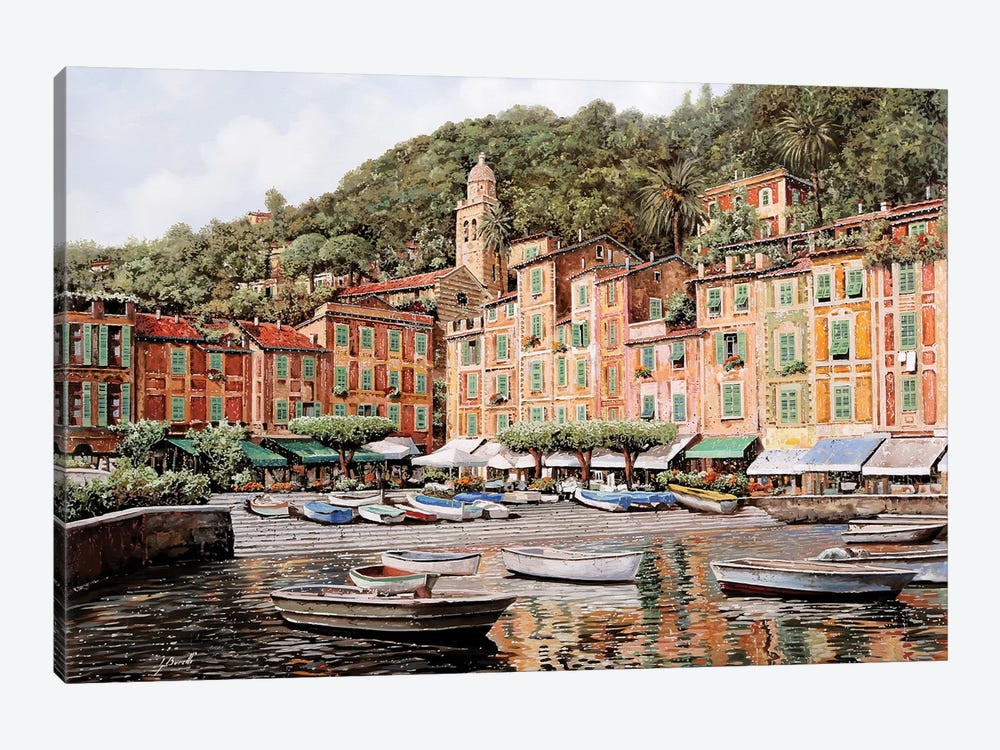 Barche A Portofino by Guido Borelli 1-piece Art Print