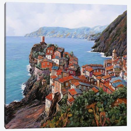 Vernazza A Colori Canvas Print #GUB220} by Guido Borelli Canvas Artwork
