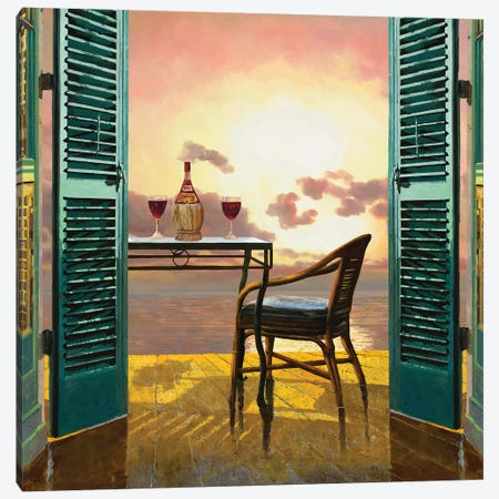 Vino Al Tramonto Canvas Print #GUB221} by Guido Borelli Canvas Artwork
