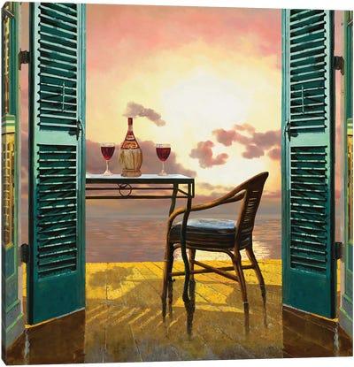 Vino Al Tramonto Canvas Art Print
