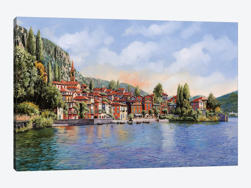 Bellagio A Colori by Guido Borelli 1-piece Canvas Art