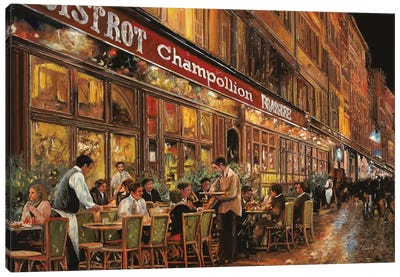 Bistrot Champollion Canvas Art Print