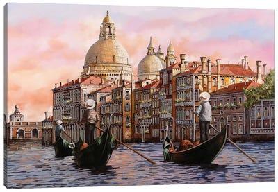 A Gondolando Di Nuovo Canvas Art Print