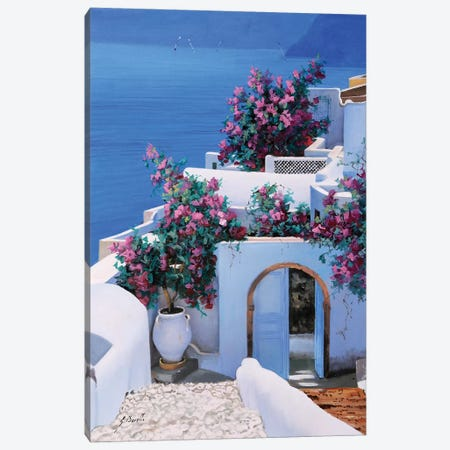 Blu Di Grecia Canvas Print #GUB31} by Guido Borelli Canvas Art Print