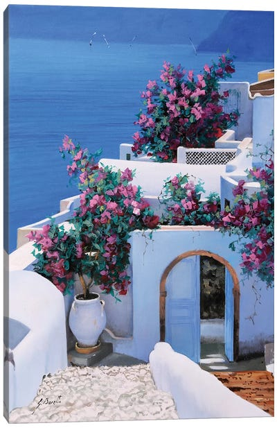 Blu Di Grecia Canvas Art Print