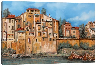 Borgo Sul Torrente Canvas Art Print