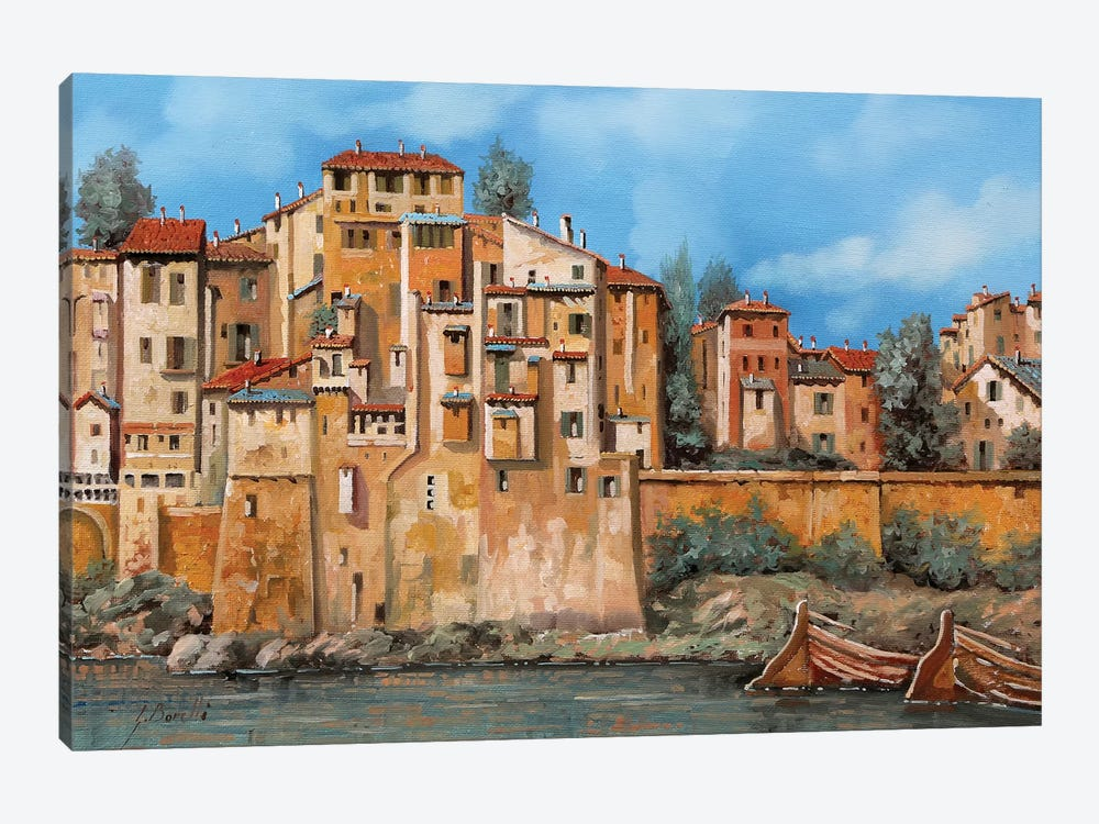 Borgo Sul Torrente by Guido Borelli 1-piece Canvas Artwork
