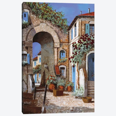 Buchi Blu Canvas Print #GUB35} by Guido Borelli Canvas Wall Art
