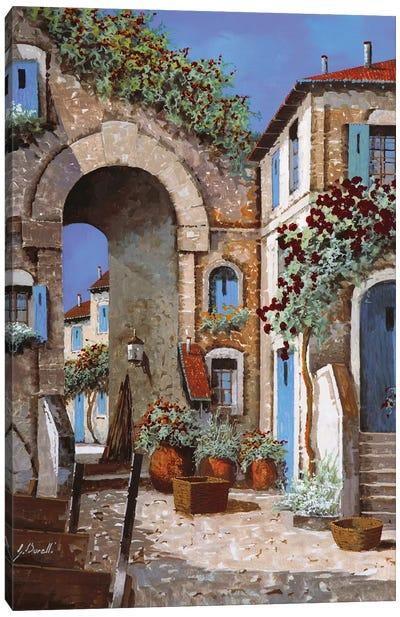 Buchi Blu Canvas Art Print