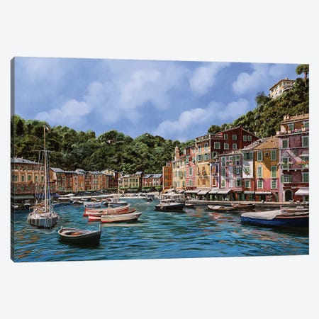 A Portofino Canvas Print #GUB3} by Guido Borelli Canvas Art Print