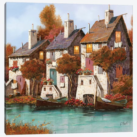 Case Al Crepuscolo Canvas Print #GUB45} by Guido Borelli Art Print
