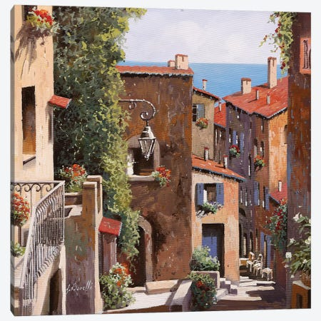 Casette Di Cagnes Canvas Print #GUB48} by Guido Borelli Canvas Art