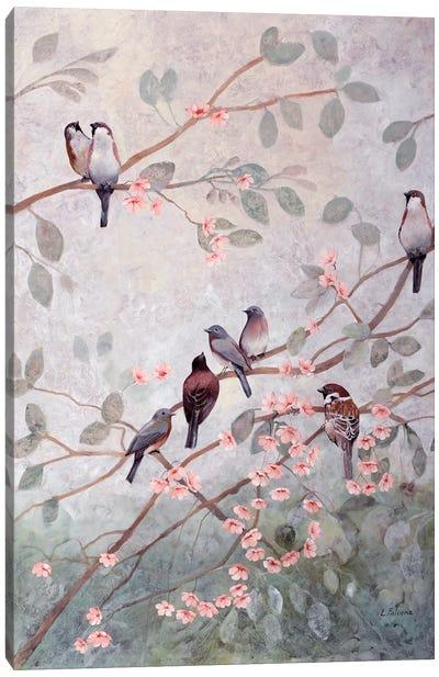 Decorazione Con Altri 8 Uccelli Canvas Art Print