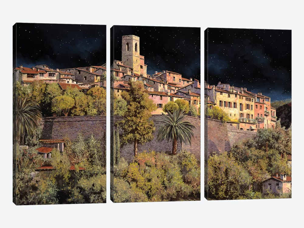 Di Notte A St Paul by Guido Borelli 3-piece Canvas Wall Art