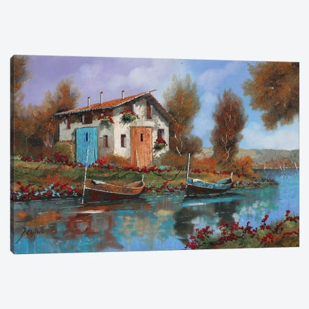 Acqua Canvas Print #GUB5} by Guido Borelli Canvas Art