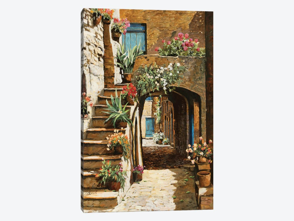 Gradini In Cortile by Guido Borelli 1-piece Canvas Artwork