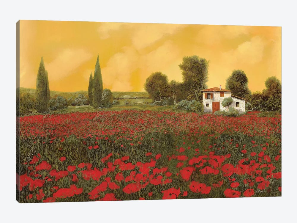 I Paveri E L'Estate Calda by Guido Borelli 1-piece Canvas Art