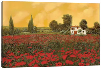 I Paveri E L'Estate Calda Canvas Art Print