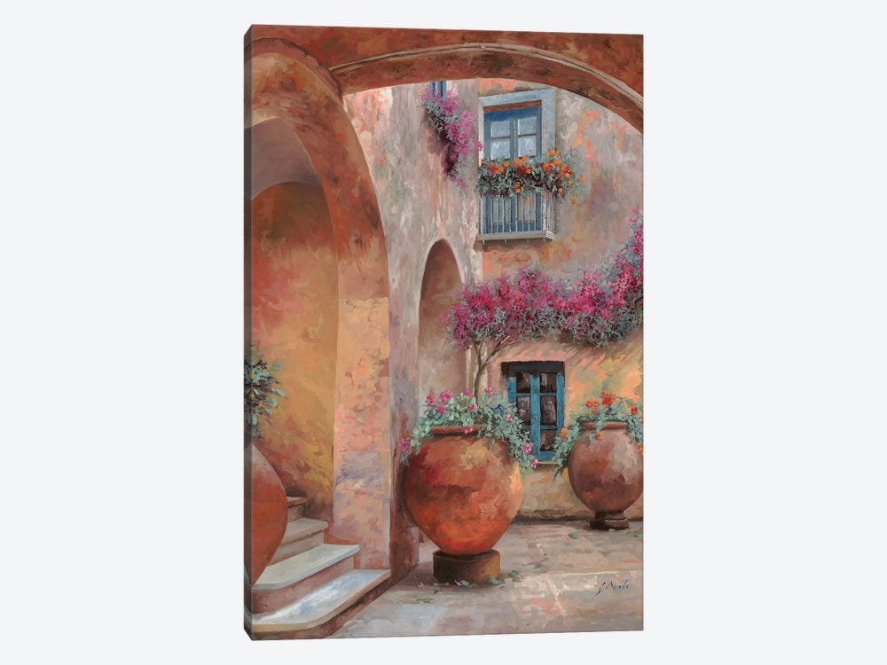Il Cortile Dell'Arco by Guido Borelli 1-piece Canvas Art