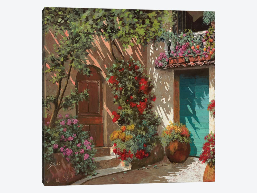 Il Cortile E I Fiori by Guido Borelli 1-piece Canvas Wall Art
