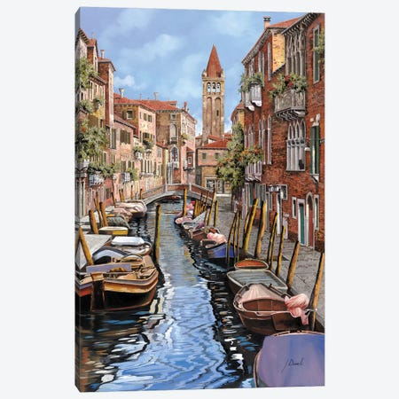 Il Gatto Nero A Venezia Canvas Print #GUB81} by Guido Borelli Canvas Artwork