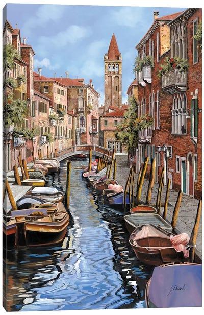 Il Gatto Nero A Venezia Canvas Art Print