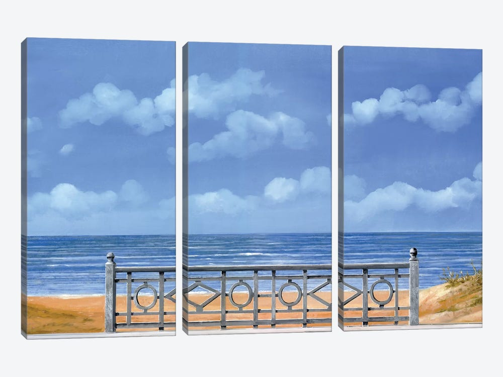 Il Mare E La Balaustra by Guido Borelli 3-piece Canvas Art Print