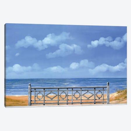 Il Mare E La Balaustra Canvas Print #GUB83} by Guido Borelli Canvas Wall Art