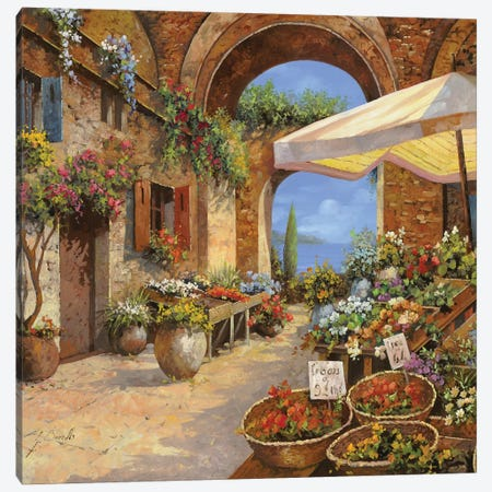 Il Mercato Del Lago Canvas Print #GUB84} by Guido Borelli Canvas Print