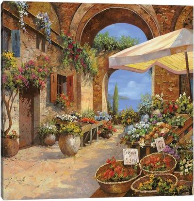 Il Mercato Del Lago Canvas Art Print