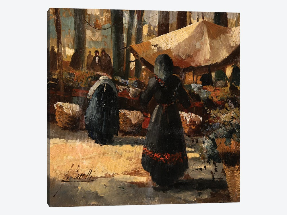 Il Mercato E La Tenda by Guido Borelli 1-piece Art Print