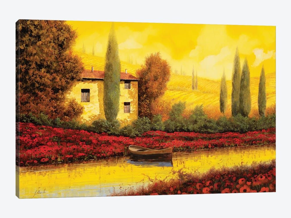 Al Tramonto Sul Fiume by Guido Borelli 1-piece Canvas Artwork