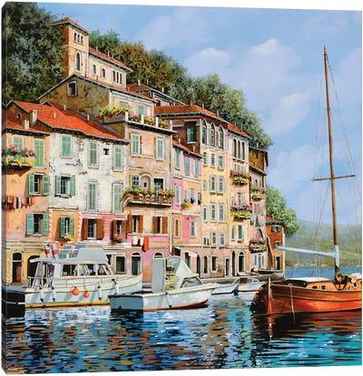La Barca Rossa Alla Calata Canvas Art Print