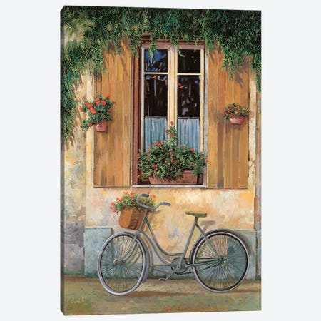 La Bici Canvas Print #GUB96} by Guido Borelli Canvas Artwork