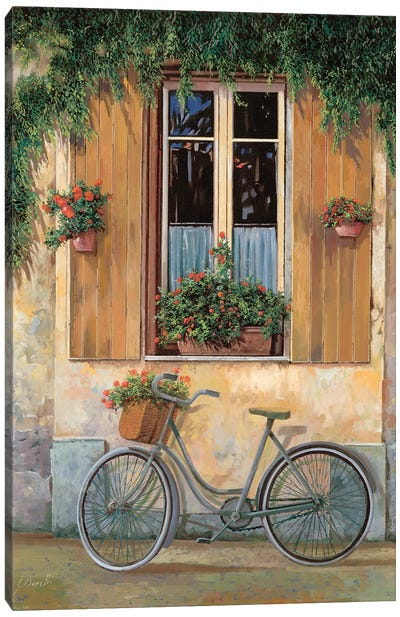 La Bici Canvas Art Print