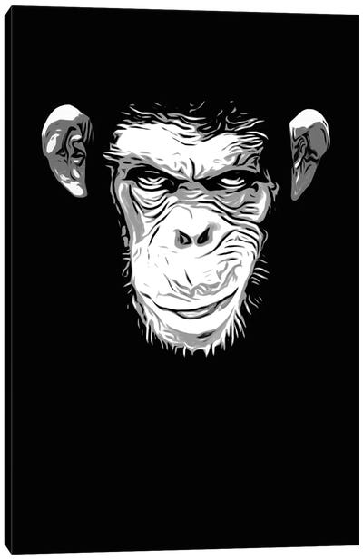 Evil Monkey Canvas Art Print