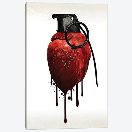 Heart Grenade Canvas Print #GUS13} by Nicklas Gustafsson Canvas Artwork