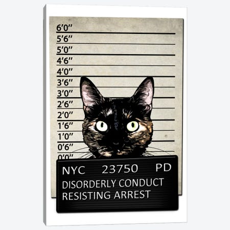Kitty Mugshot Canvas Print #GUS15} by Nicklas Gustafsson Canvas Print