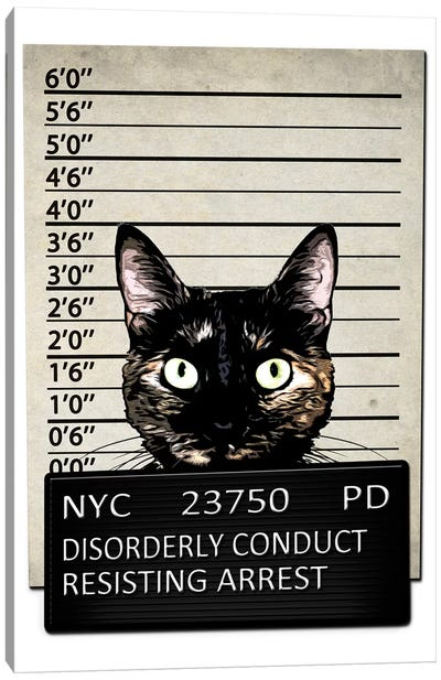 Kitty Mugshot Canvas Art Print