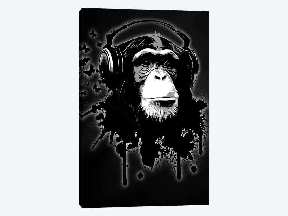 Monkey Business by Nicklas Gustafsson 1-piece Canvas Wall Art