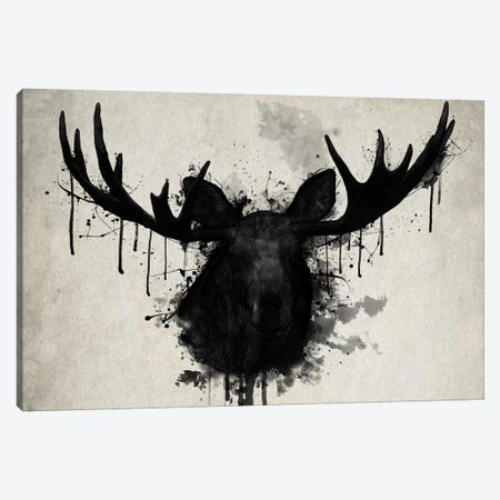 Moose Canvas Print #GUS19} by Nicklas Gustafsson Canvas Art