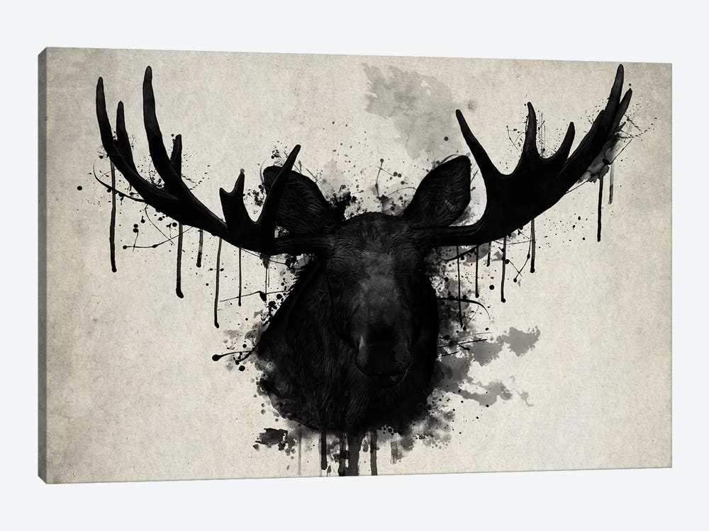Moose by Nicklas Gustafsson 1-piece Canvas Wall Art