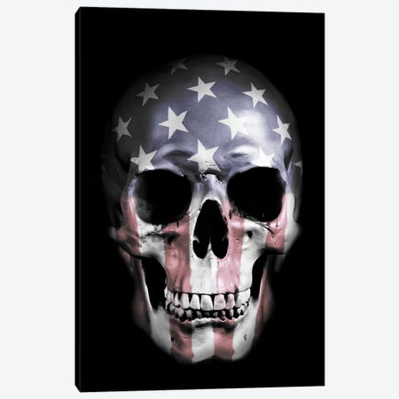 American Skull Canvas Print #GUS1} by Nicklas Gustafsson Canvas Print